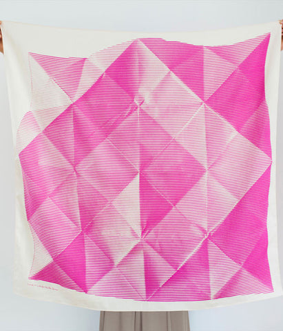Furoshiki Wrapping Cloth - LINK x Lucinda Newton-Dunn {Folded Paper Pink}