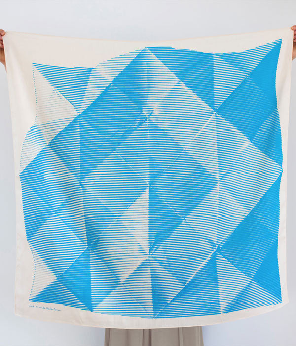 Furoshiki Wrapping Cloth {Folded Paper Blue}