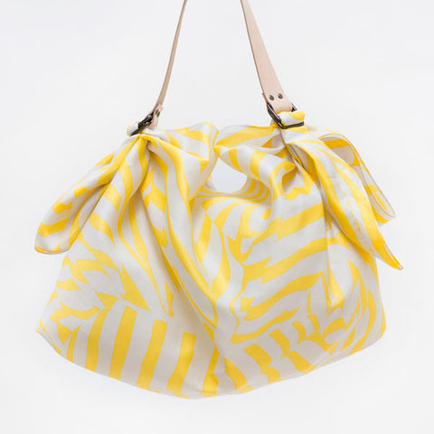 Furoshiki Wrapping Cloth - LINK x Lucinda Newton-Dunn {Stripe Yellow}