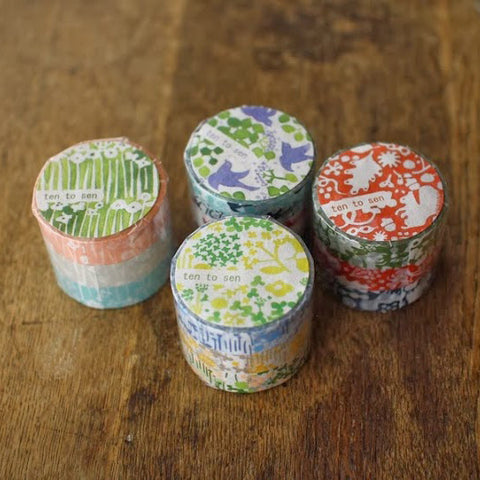 Ten-to-sen Washi Tape 3 Roll Set