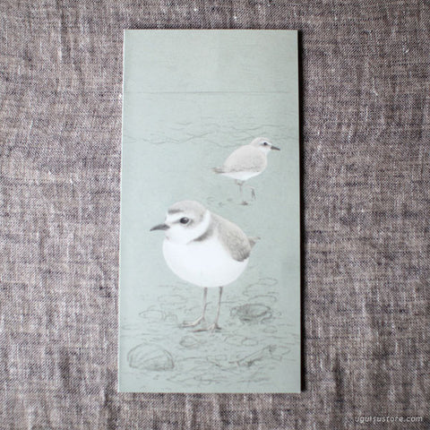 Tobidustry Pop-Up Bird Card {Snowy Plover}