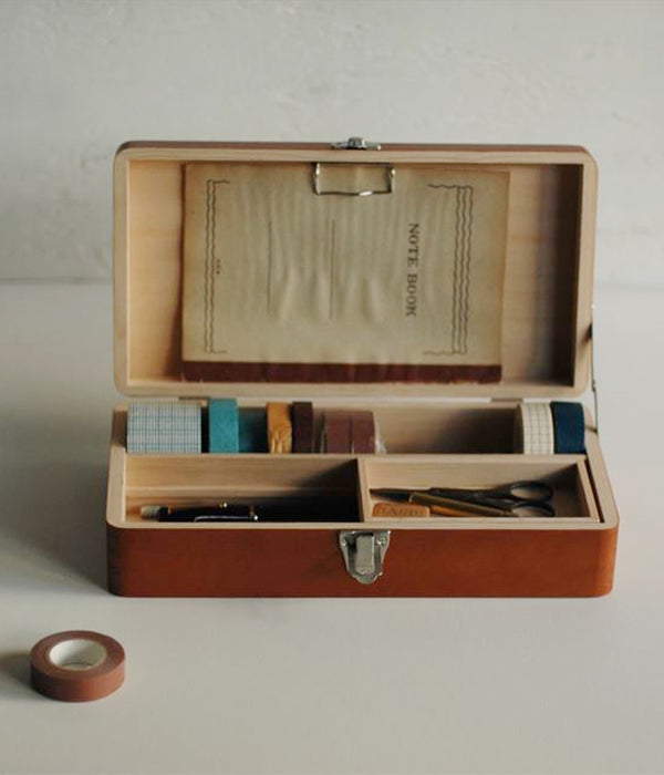 Classiky Wood Desk Tool Box