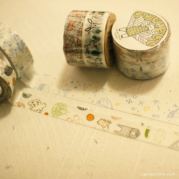Torinoko Washi Tape 2 Roll Set {Butterfly & Forest}