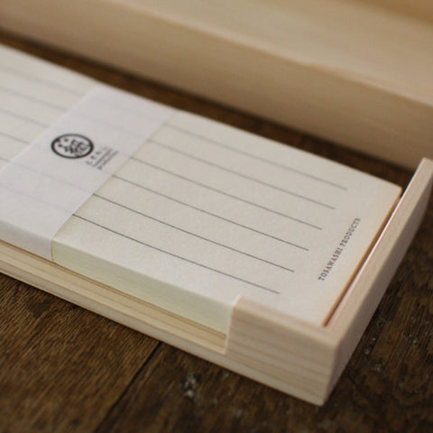 Tosa Washi Paper in Hinoki Wooden Lidded Box
