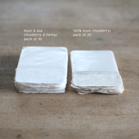 [SOLD OUT] Deckle Edged Japanese Washi Blank Calling Card {Kozo & Asa}