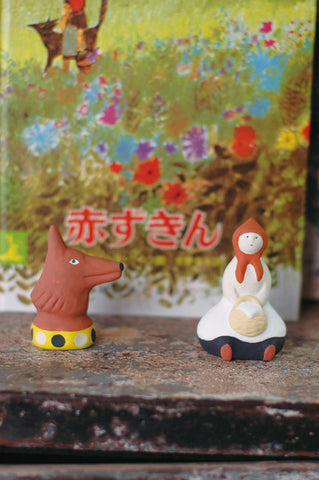 Yuki Nishio Small Ceramic Figure {The Wolf}