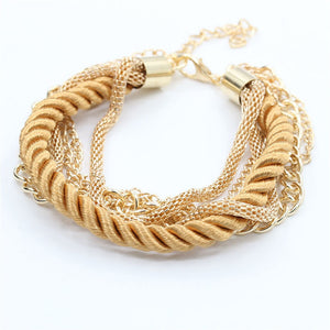 Fashion Hand-Knitted Bracelet Casual Jewelry Fashion Bracelet for Women Girls