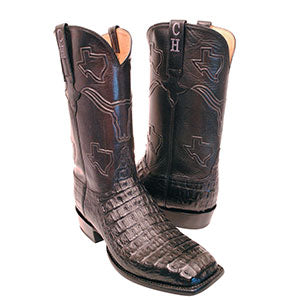 Hornback Crocodile Custom Cowboy Boots by Lucchese