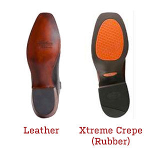 two more custom classics sole options - leather and xtreme crepe rubber