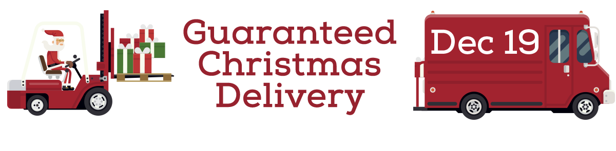 Guaranteed Christmas delivery graphic