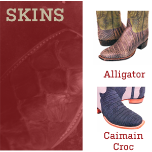 View the many custom leathers and animal skins
