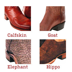 Lucchese Custom Skins and Leathers -calfskin and goat