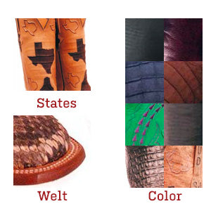 custom lucchese classics colors and welts