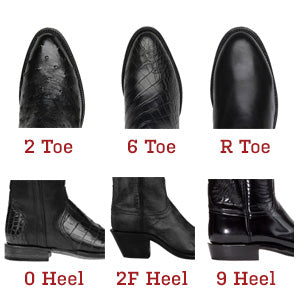 Lucchese Boots Toe and Heel options 2