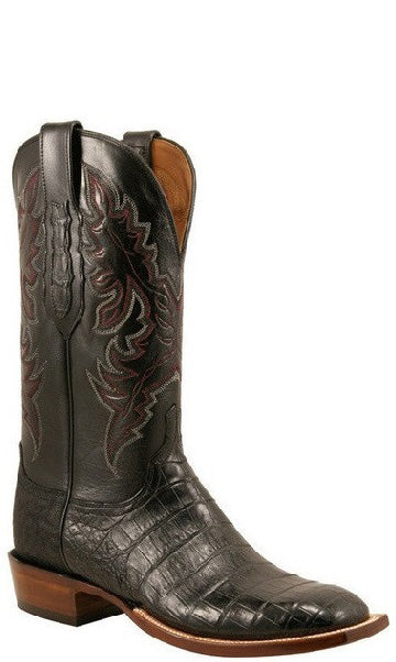 Lucchese C1000.W8 Mens Black Ultra Crocodile Belly Boots