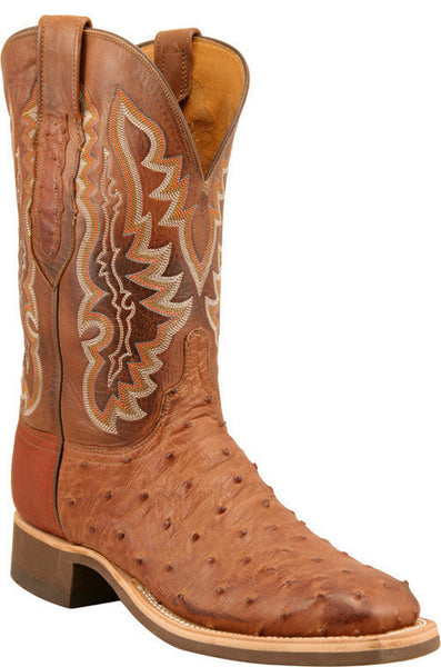 Lucchese C1104.W8 Mens Barnwood Burnished Full Quill Ostrich Boots