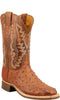Lucchese C1104 Mens Barnwood Burnished Full Quill Ostrich Boots