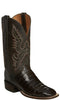 Lucchese CL1008.WF TRENT Mens Chocoalte Belly Caiman Crocodile Tail Boots