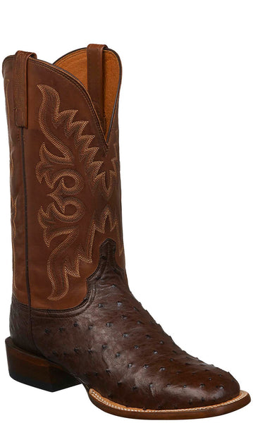 Lucchese CL1022.W8S HARMON Mens Sienna Full Quill Ostrich Boots