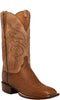 Lucchese Lance C1028 Mens Smooth Ostrich Barnwood Burnished Boots