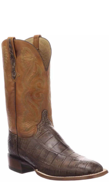 Lucchese Roy CL1072.WF Mens Antique Chocolate Giant American Alligator Boots
