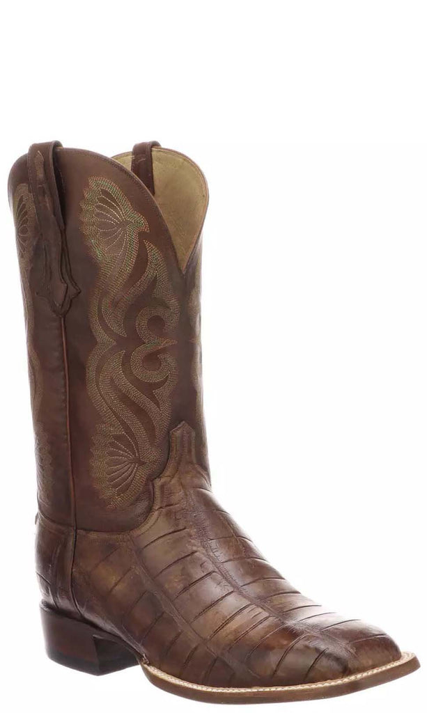 Lucchese ROY CL1073.WF Mens Antique Cognac Giant American Alligator Boots Size 10.5 D STALL STOCK
