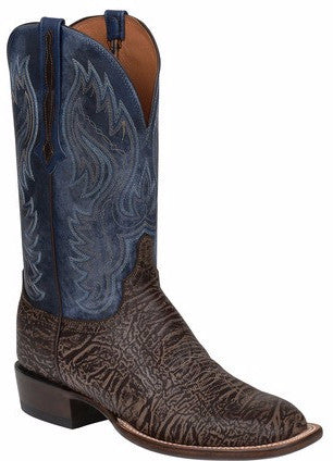 Lucchese CL1510.W8S MILLER Mens Chocolate Bison Boots