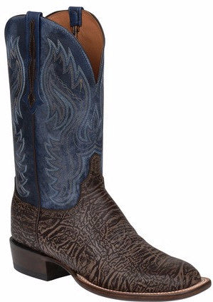 Lucchese CL1510.W8 MILLER Mens Chocolate American Bison Boots