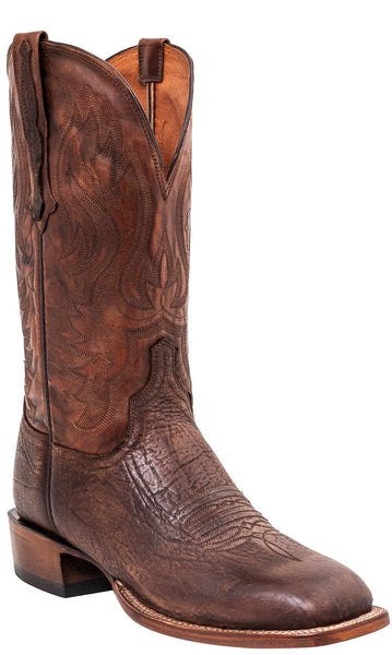 Lucchese CL1511.W8 MILLER Mens Antique Cognac Bison Boots