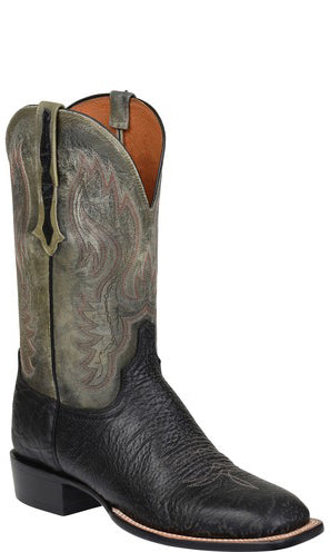 Lucchese CL1512.W8S MILLER Mens Black Bison Boots