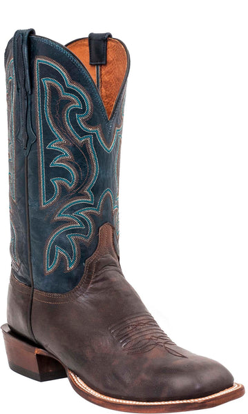Lucchese CL1514.W8 BROCK Mens Antique Pearwood Goat Boots