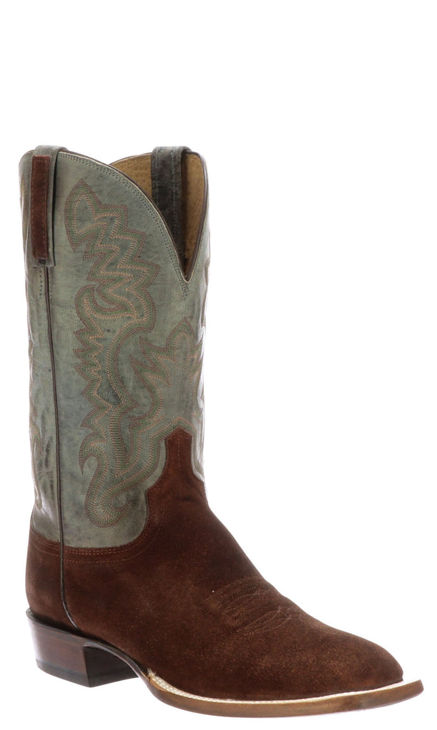 Lucchese Levi Mens Antique Rust Suede Boots - Made in America