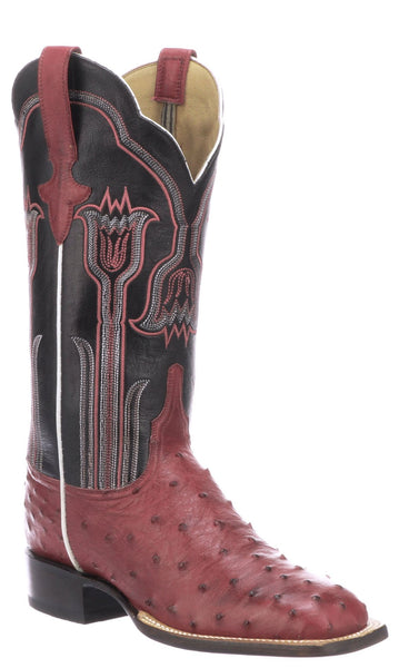 Lucchese Maggie Womens Plum Full Quill Ostrich Boots - Made in America