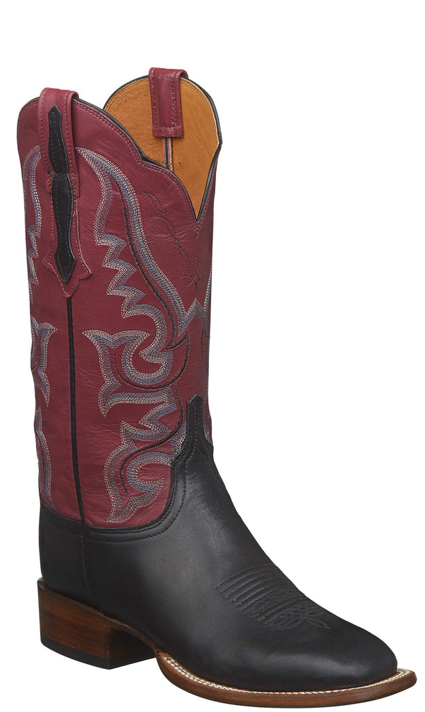 Lucchese Harlow CL2536.W8 Womens Black Jersey Calfskin Boots