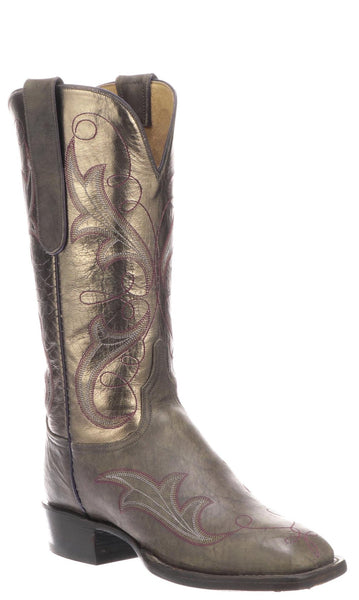 Lucchese Taryn CL2541.W8 Womens Anthracite Grey Burnished Mad Dog Goat Boots