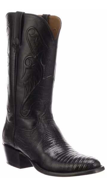 Lucchese BENTON CL3006.R3 Mens Black Lizard Boots