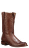 Lucchese Sunset Roper CL6503.C2 Mens Tan Burnished Ranch Hand Calfskin Boots
