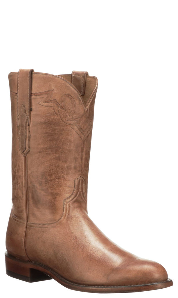 Lucchese Sunset Roper CL6504.C2 Mens Honey Burnished Ranch Hand Calfskin Boots