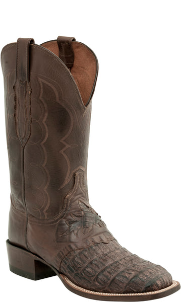 Lucchese C1064.W8 Mens Barrel Brown Caiman Crocodile Boots