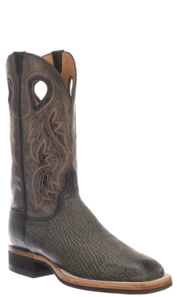 Lucchese Adams CX1079.WF Mens Black Shark Boots with Rubber Soles