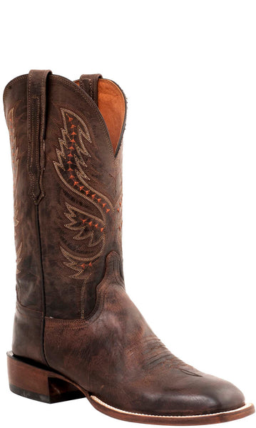 Lucchese JUDD C1518 Mens Mad Dog Goat Antique Peanut Brittle Boots