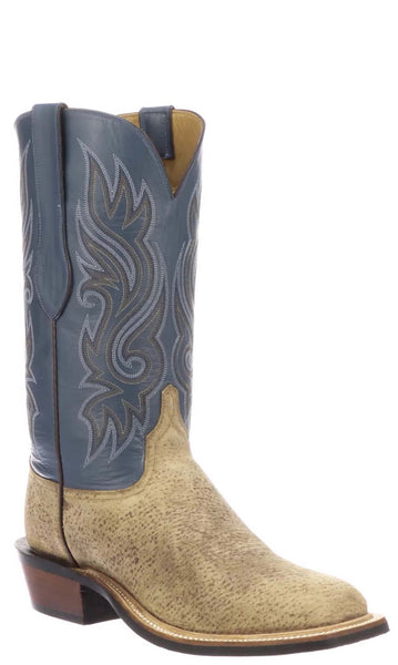 Lucchese NORMAN CY3509.W3LS Mens Sand Wild Boar Boots Size 11.5 D STALL STOCK