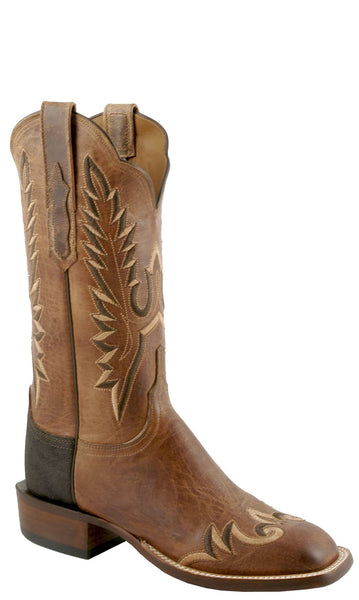 Lucchese CY7261.W8S Womens Tan Burnished Mad Dog Goat Boots