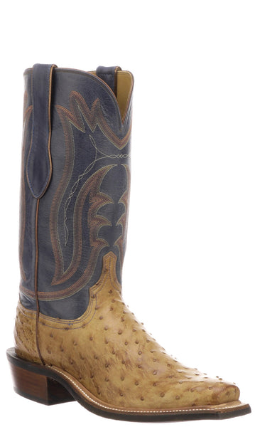 Lucchese HECTOR CZ3003.Q3LS Mens Tan Burnished Full Quill Ostrich Boots