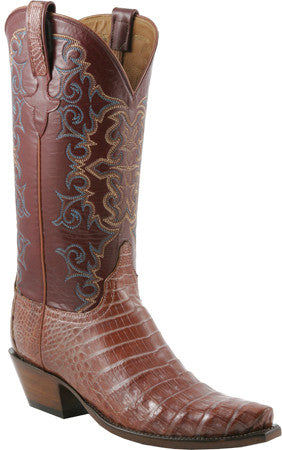 Lucchese Classics E2139 Womens Coppertone Utlra Belly Caiman Crocodile Boots