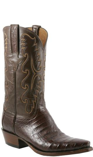 Lucchese Classics E2144.53 Mens Brown Ultra Belly Caiman Crocodile Boots Size 11 D STALL STOCK