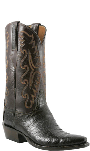 Lucchese Classics E2145 Mens Chocolate Caiman Crocodile Belly Boots