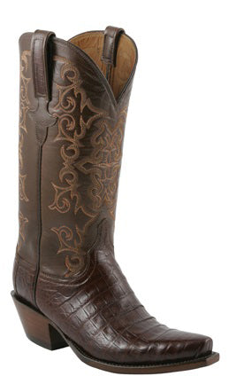 Lucchese Classics E2148 Mens Sienna Ultra Belly Caiman Crocodile Boots
