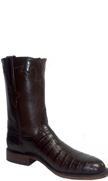 Lucchese Classics E2158 Mens Sienna Ultra Belly Caiman Crocodile Boots