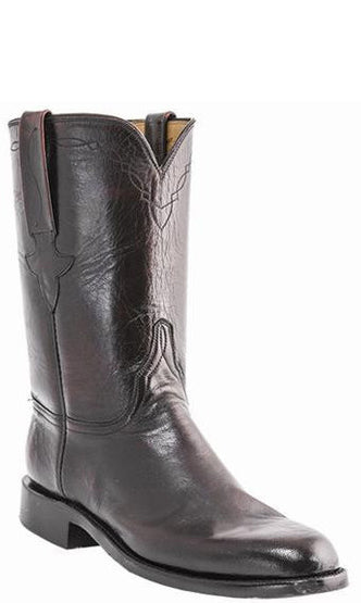 Lucchese Classics E2193 Mens Shadow Goatskin Roper Boots